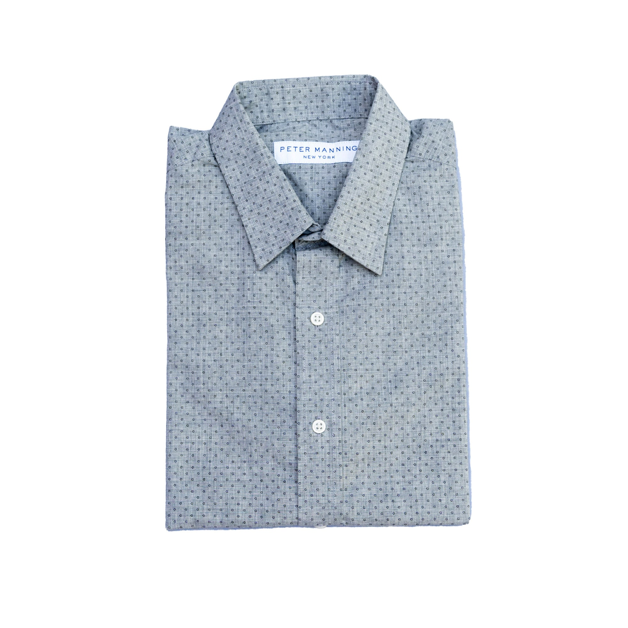 Weekend Printed Shirt Slim Fit - Grey Dot