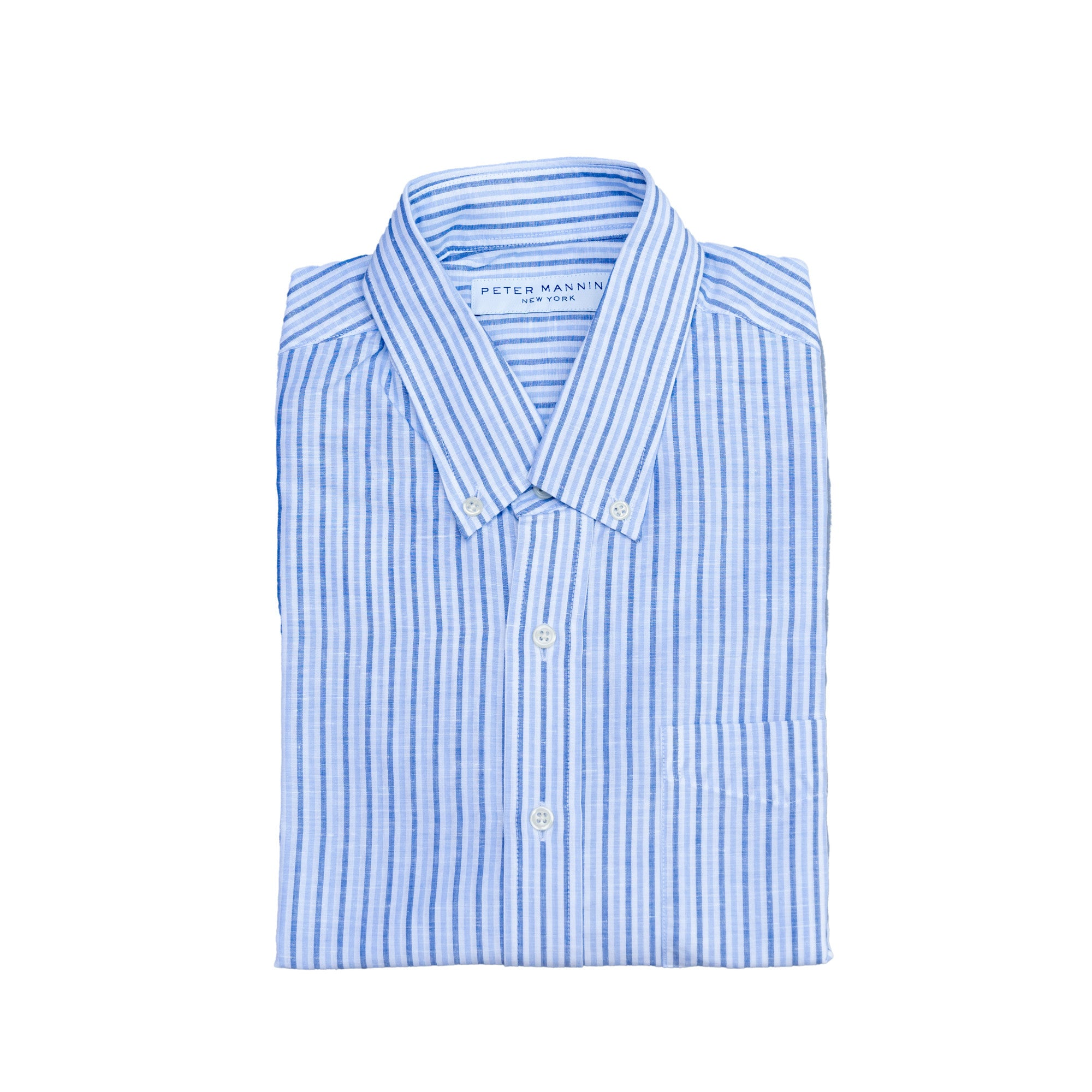 Weekend Linen Shirts - Blue Stripe