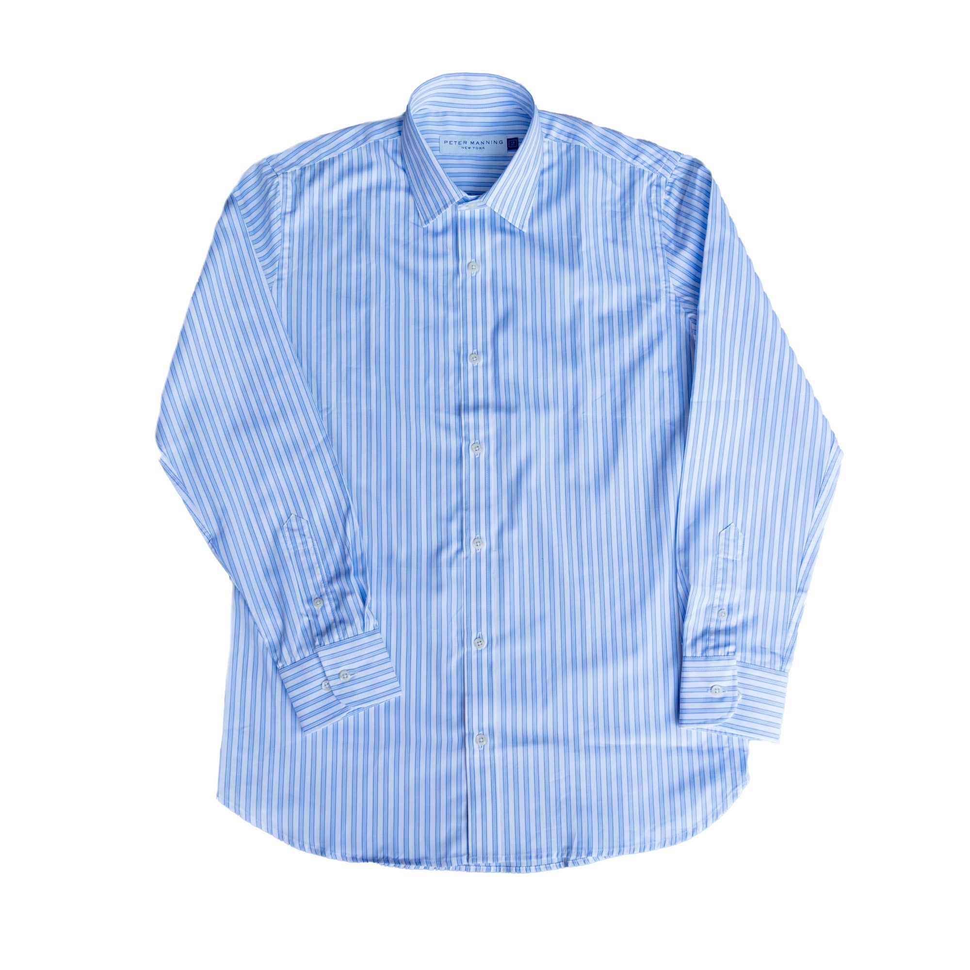 Premium Dress Shirt Standard Fit - Blue White Stripe