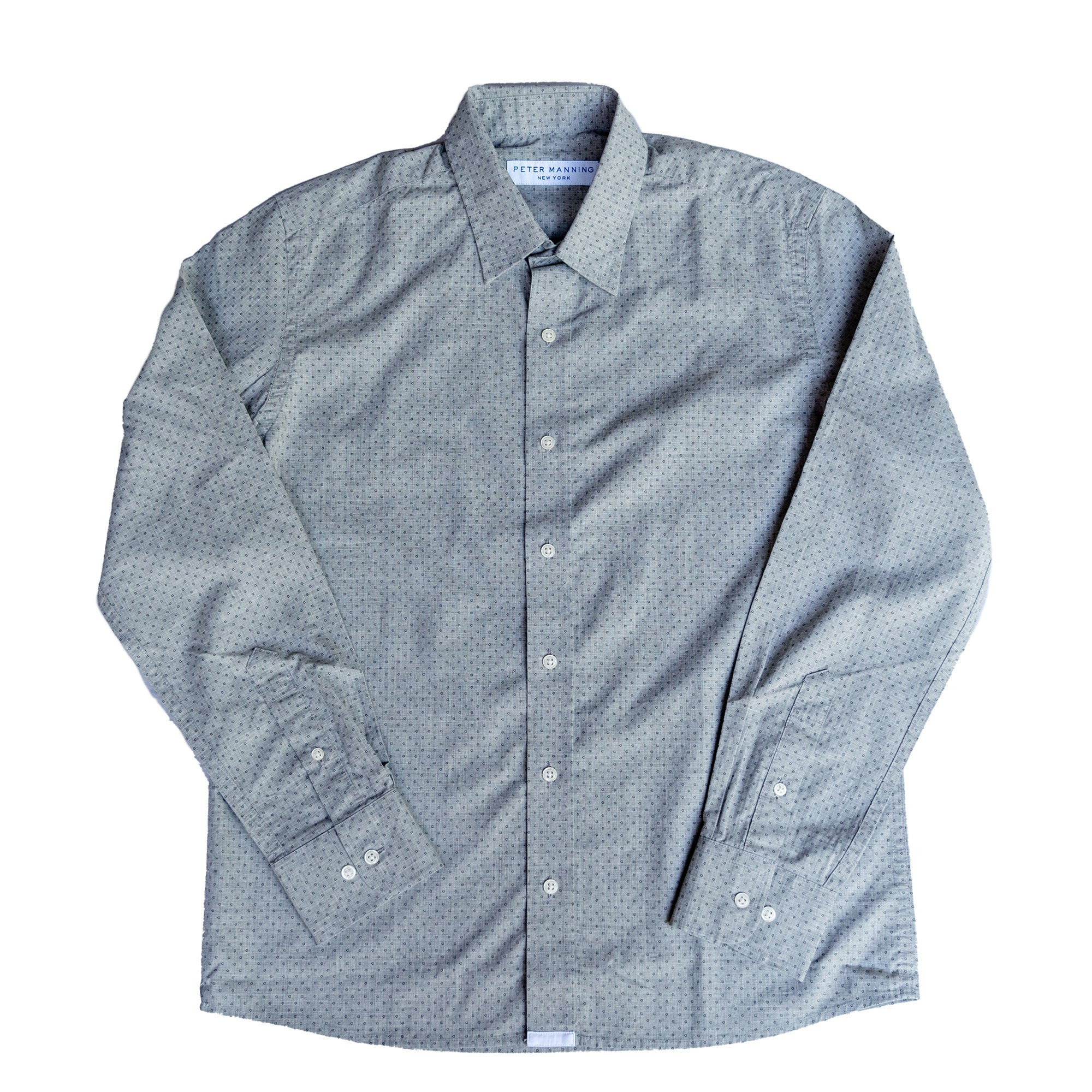 Weekend Printed Shirt Standard Fit - Grey Dot