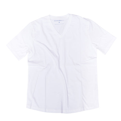 The V Neck T - White