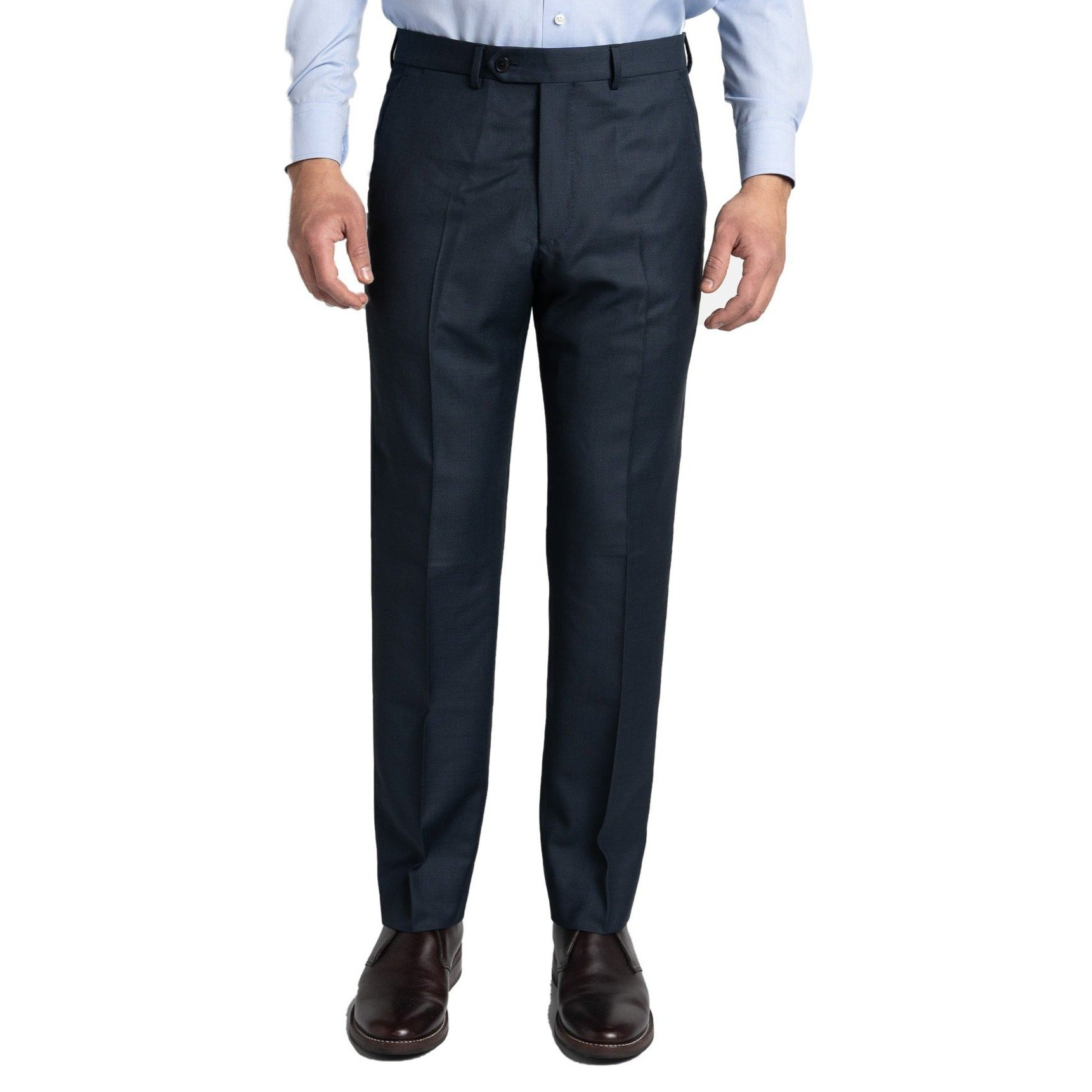 Essex Dress Pants - Navy Birdseye