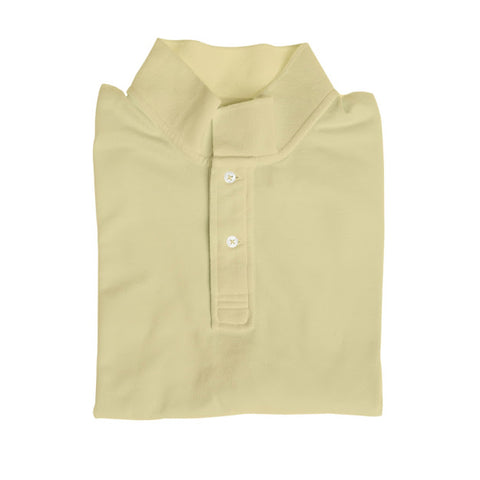 Long Sleeve Polo - Pale Yellow