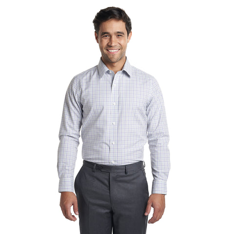Non Iron Dress Shirt Standard Fit - Purple Olive Check