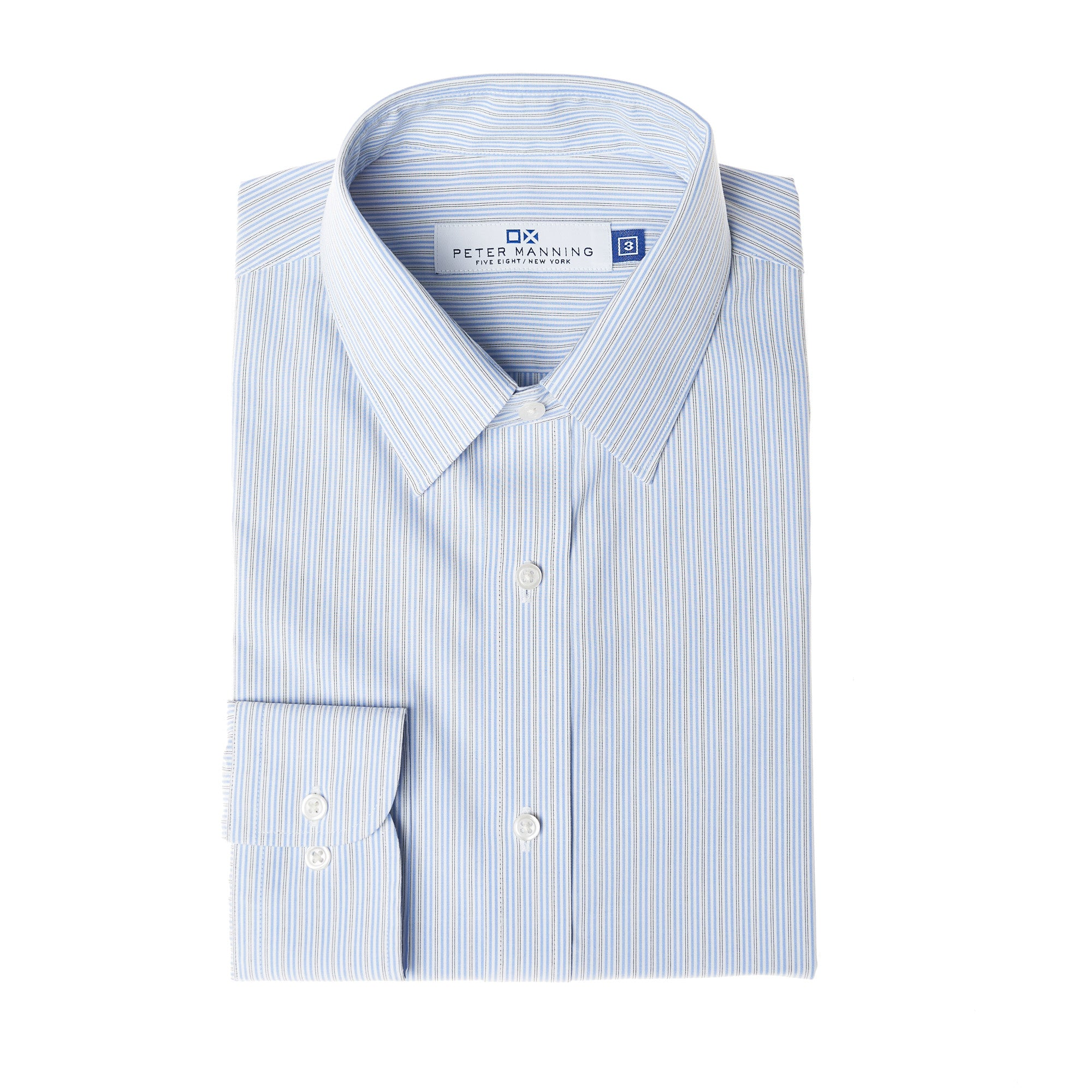 Easy Care Dress Shirt Standard Fit - Blue Pinstripe