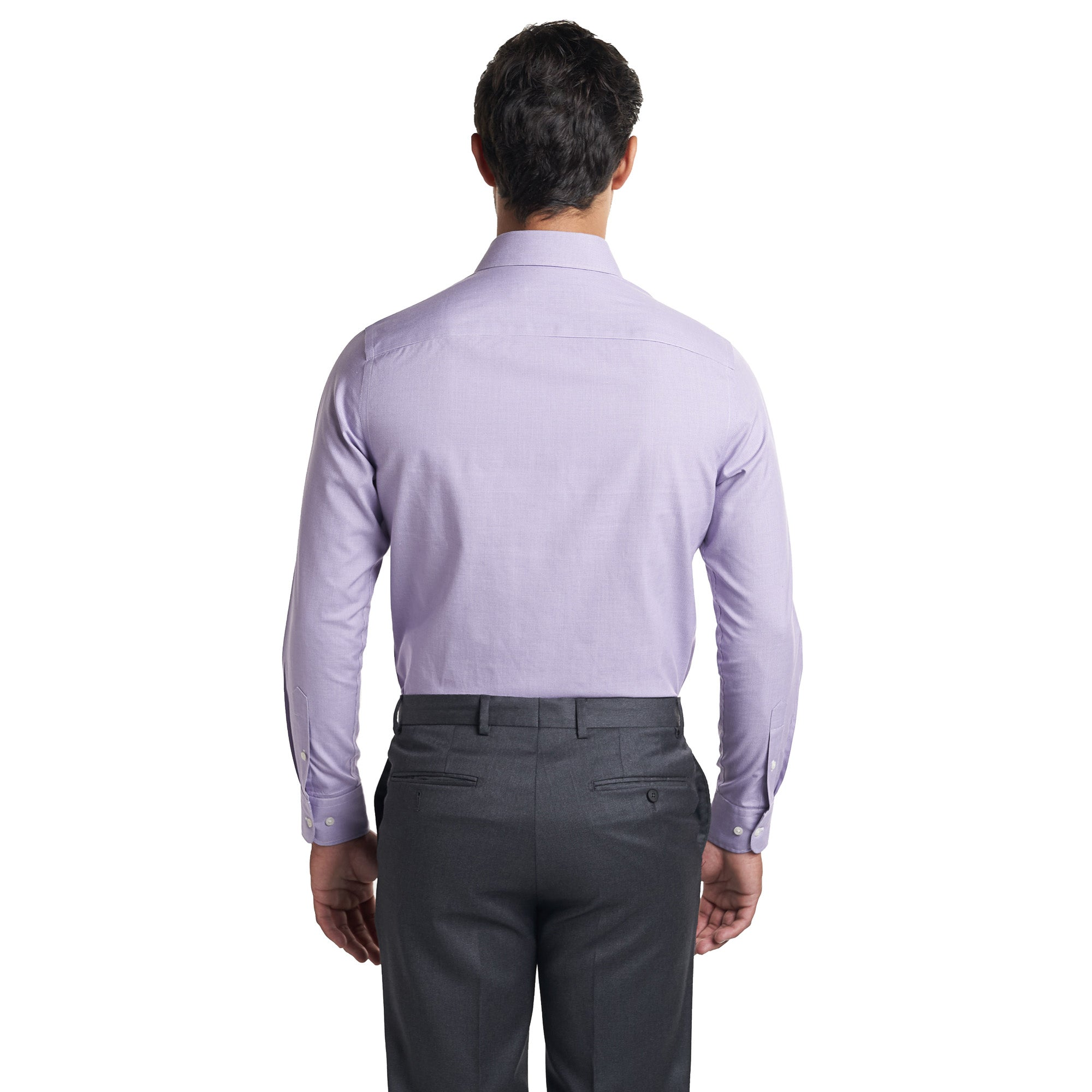 Non Iron Dress Shirt - Purple End On End