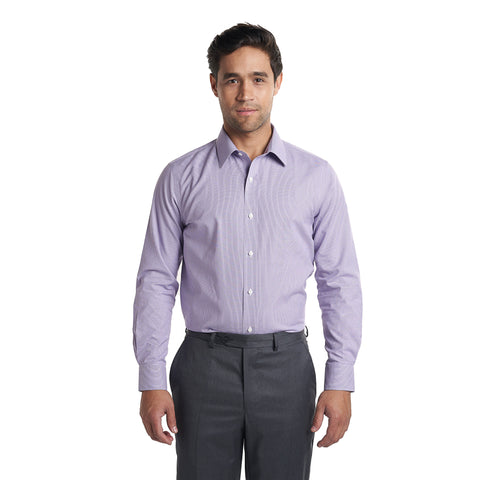 Non Iron Dress Shirt Standard Fit - Purple End On End