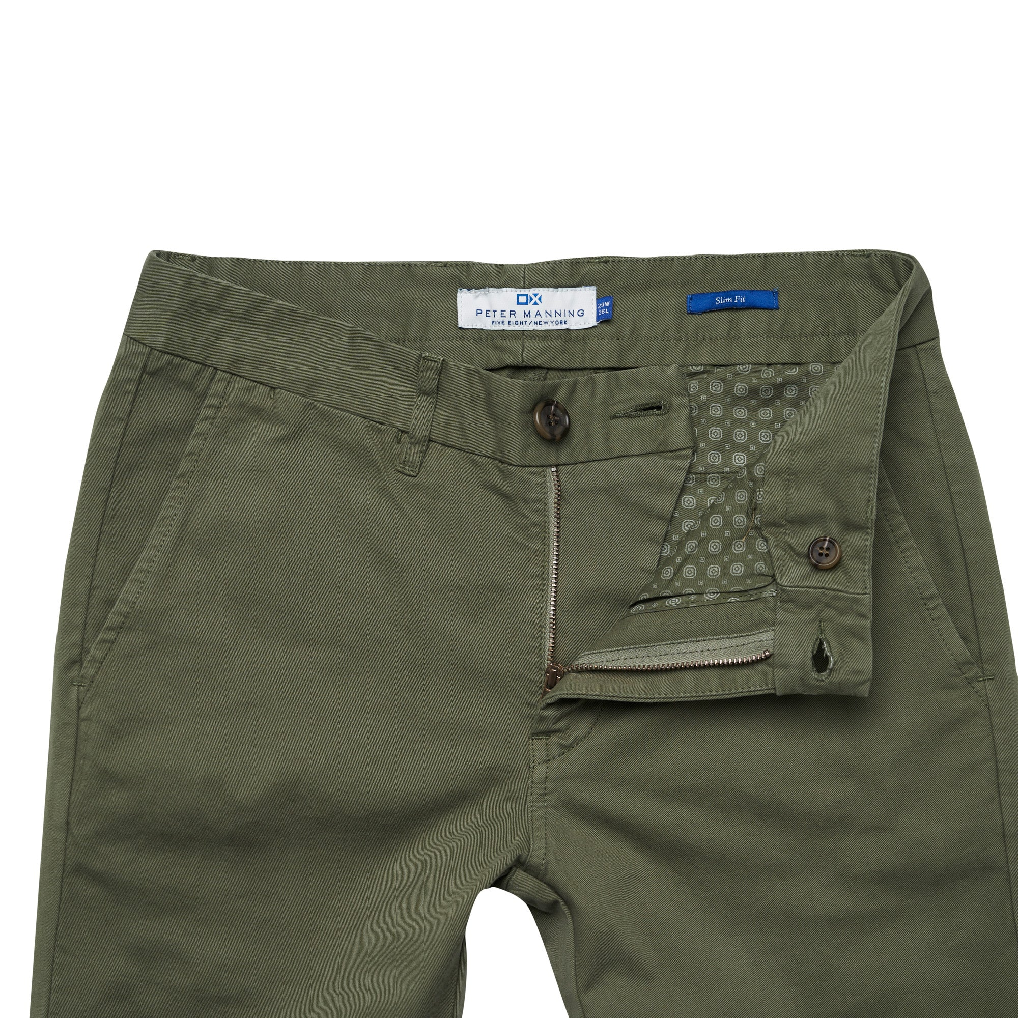 Slim Fit Chinos - Olive