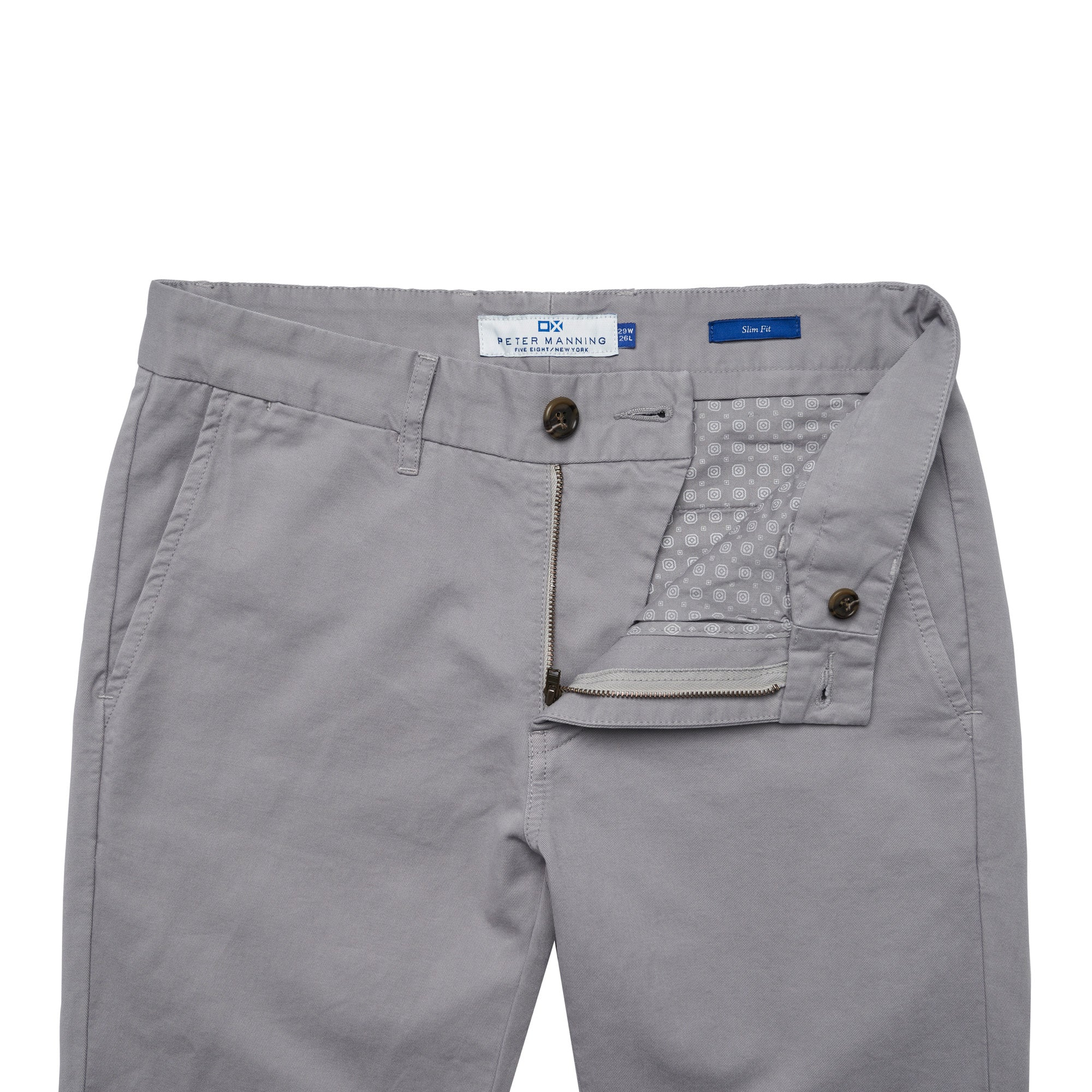 Slim Fit Chinos - Grey