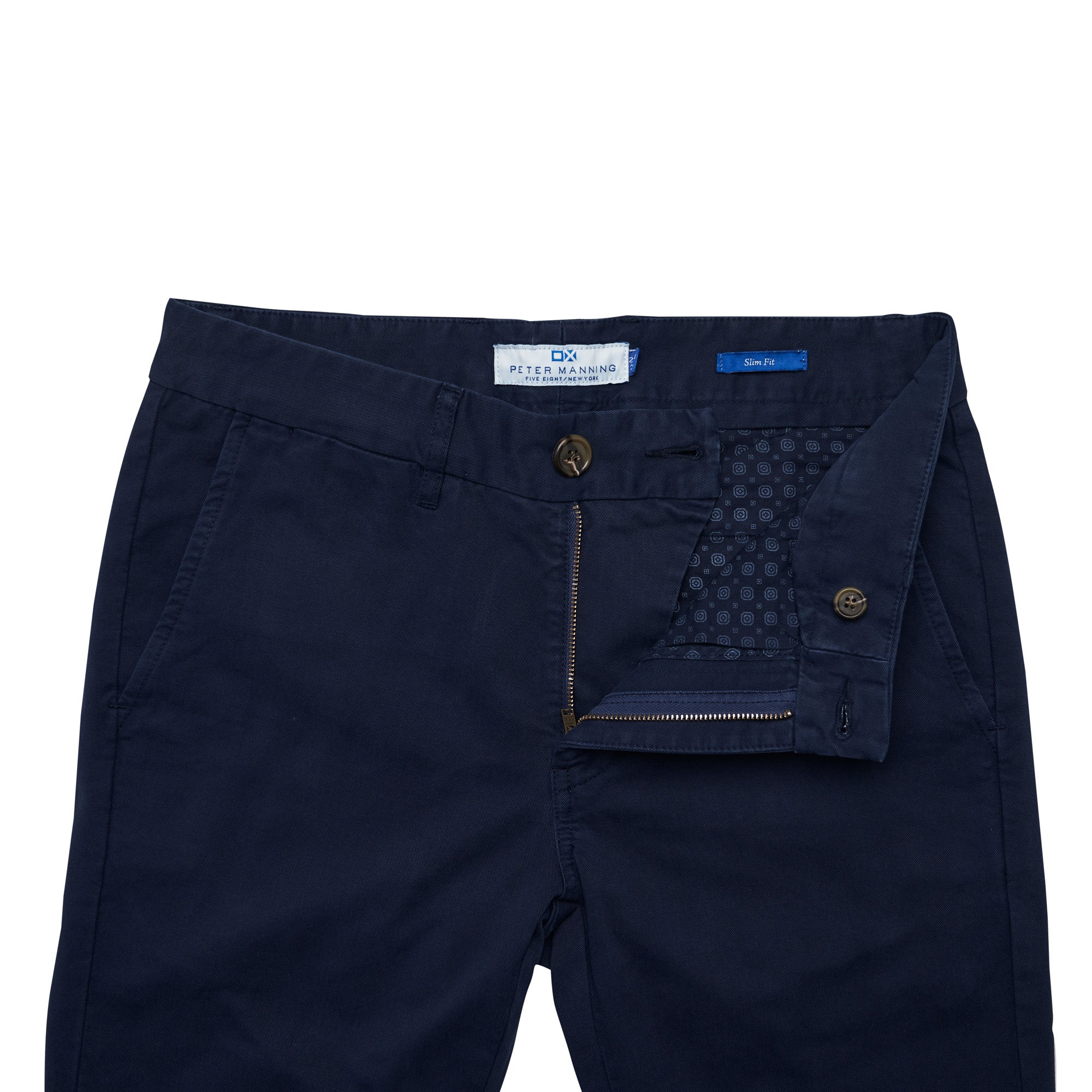 Slim Fit Chinos - Navy