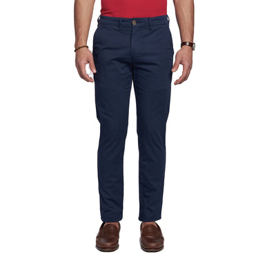Lightweight Stretch Chinos Slim Fit - Navy