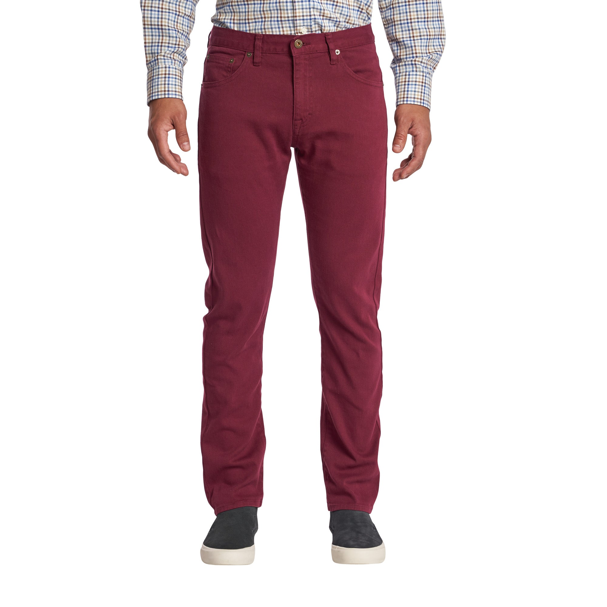 Travel Jeans - Burgundy
