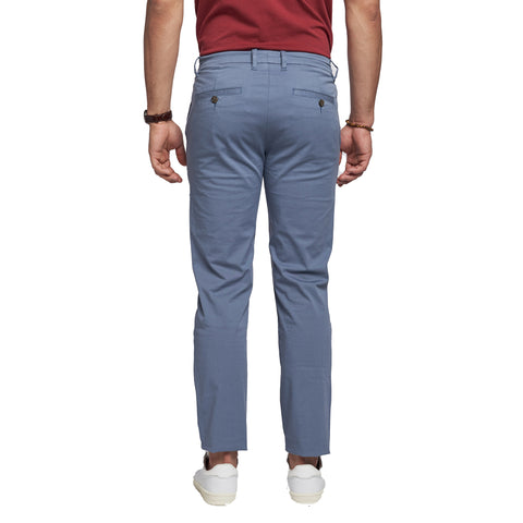 Lightweight Stretch Chinos Slim Fit - Slate Blue