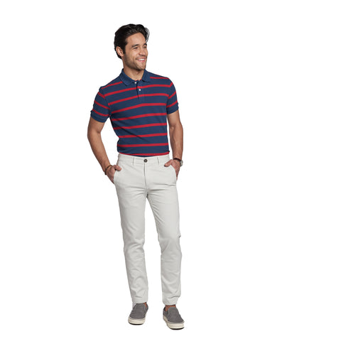 Lightweight Stretch Chinos Slim Fit - Stone