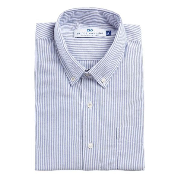 Weekend Oxford Standard Fit - Blue University Stripe