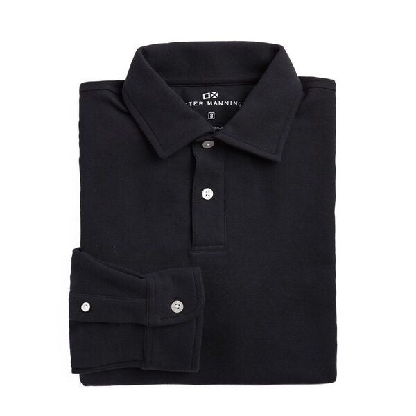 Original Long Sleeve Polo - Black