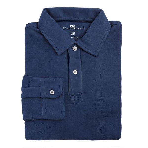 f969874c6fa Long Sleeve Polo - Navy – Peter Manning NYC