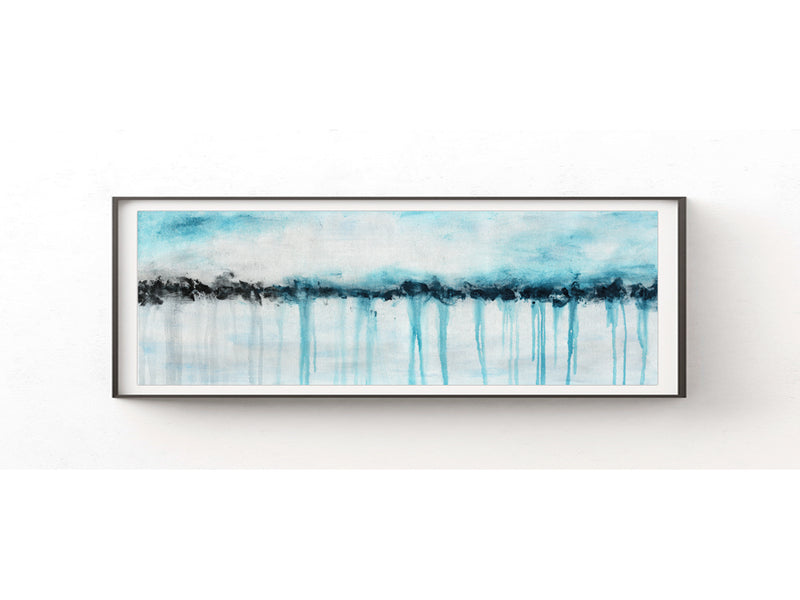 panoramic download print 12 x 36 blue printable art