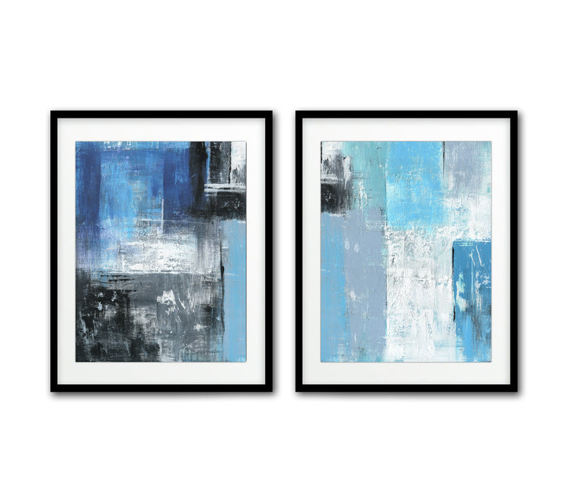 digital download print abstract set of 2 wall art diptych