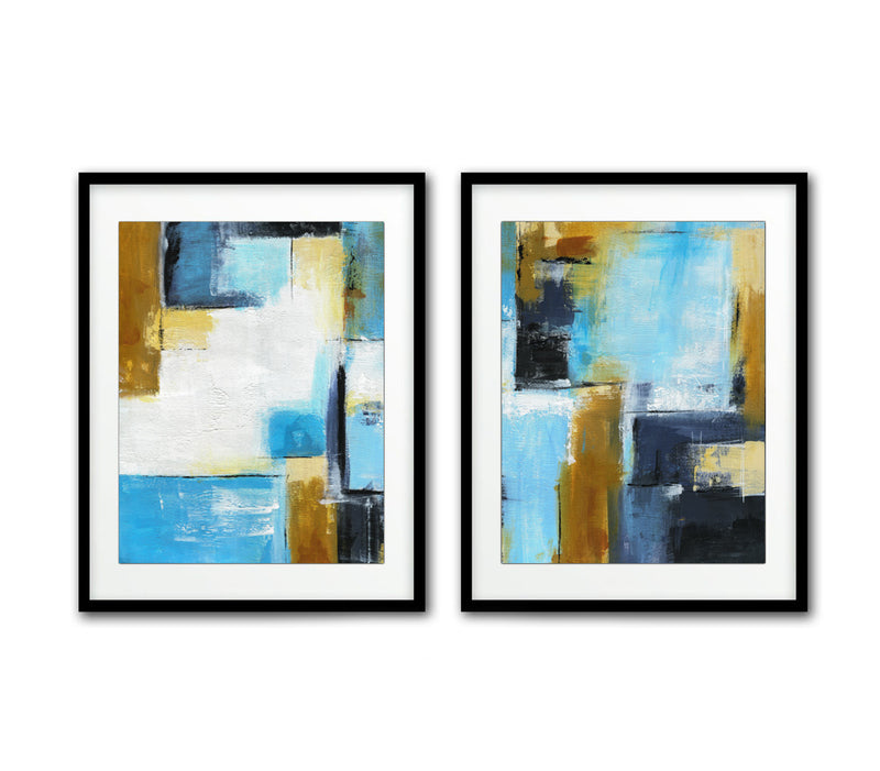 set of 2 download prints wall art