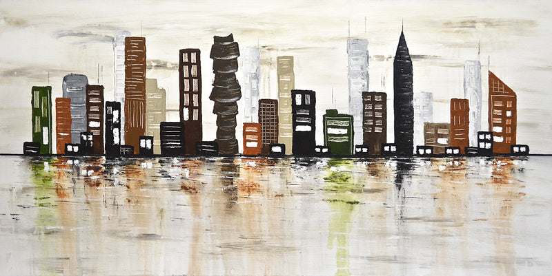 skyline cityscape abstract art
