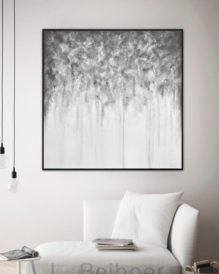 gray abstract painting modern design