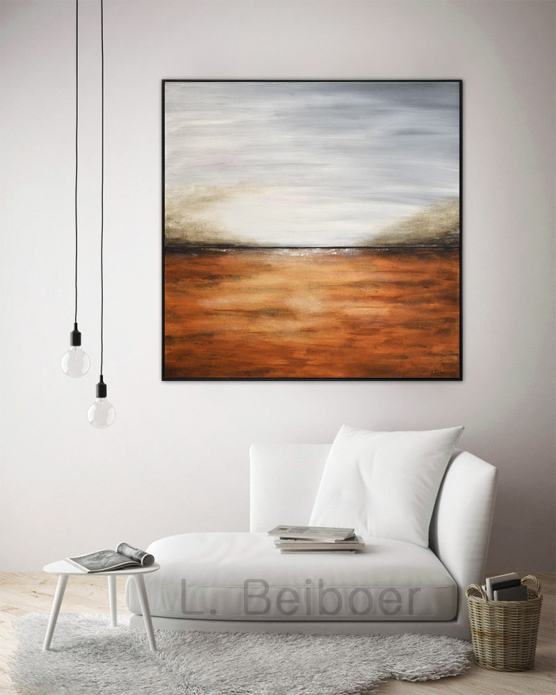 abstract landscape painting interior design