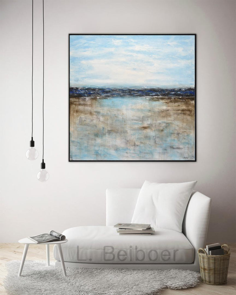 large blue square artwork