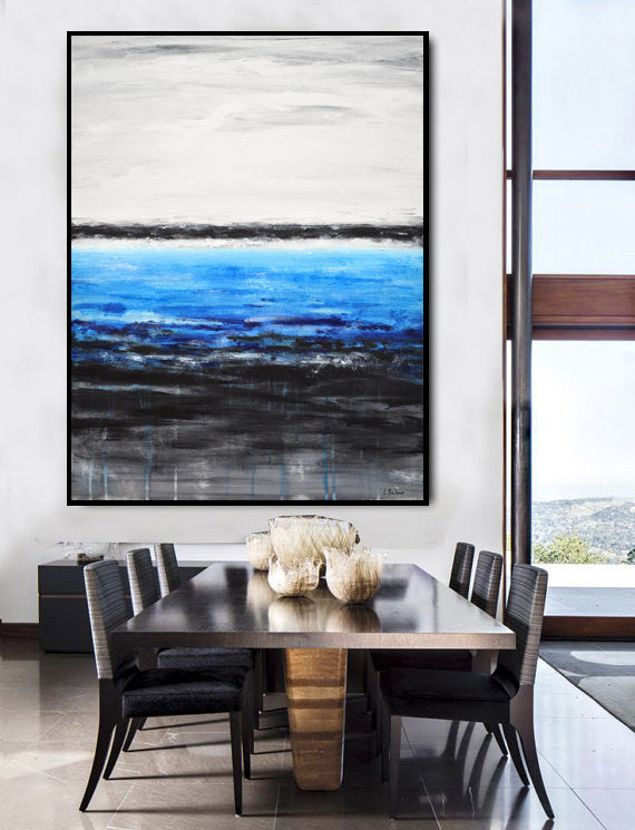 original abstract blue black interior design