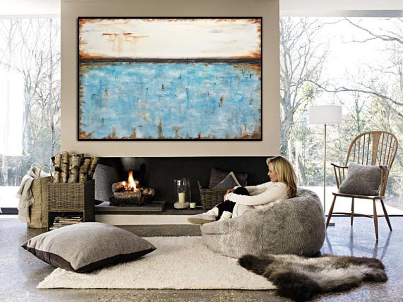 beiboerfineart.com 40x60 big abstract art raw art interior design gallery