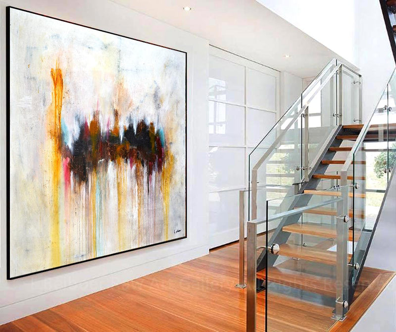 6 ft large abstract painting