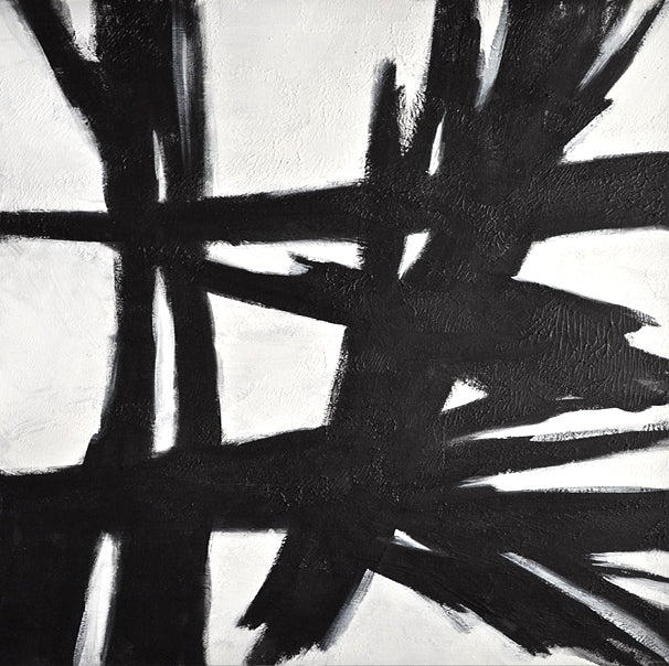 white and black abstract art