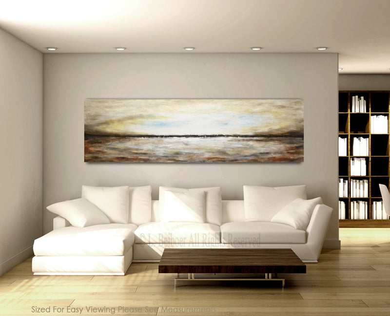 original large panoramic landscape artwork