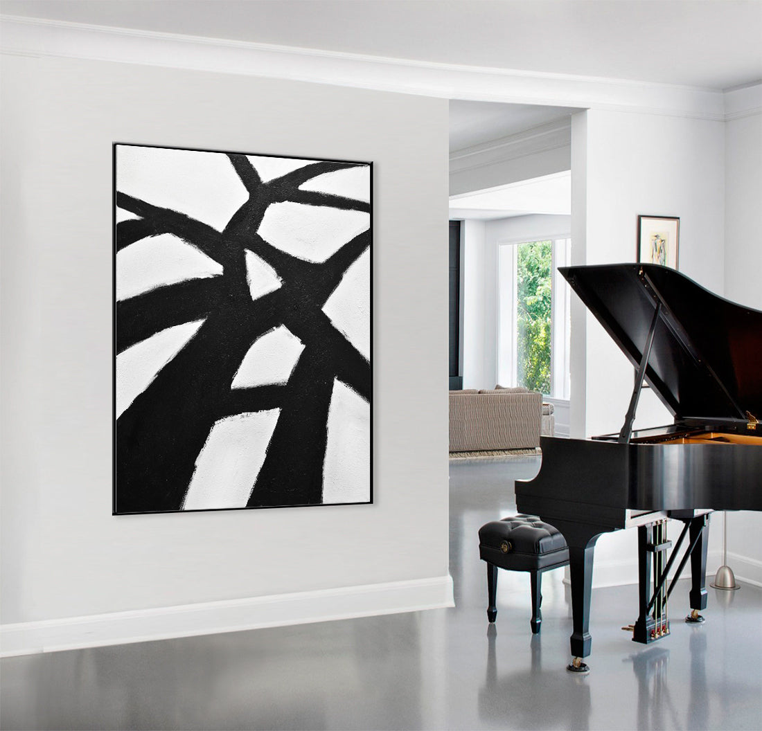 Large black and white artwork