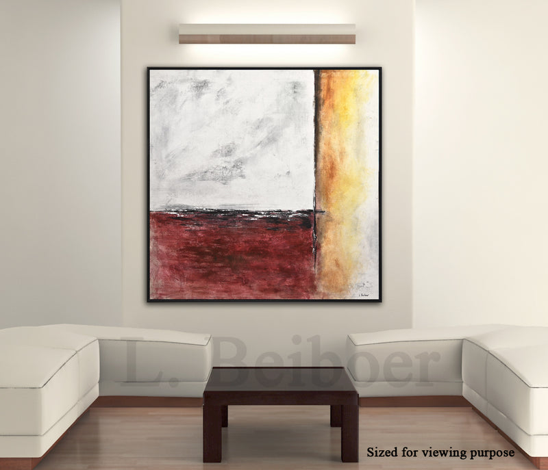 square wall art artwork brown red