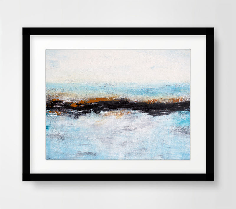 digital download print blue landscape
