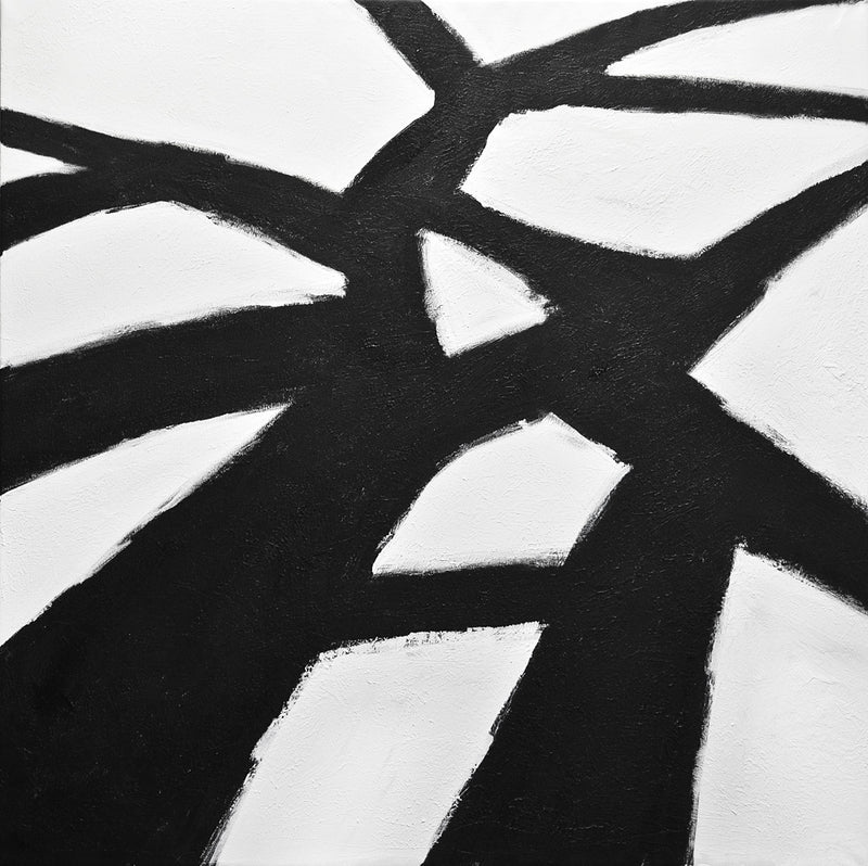 kline style black and white original artwork