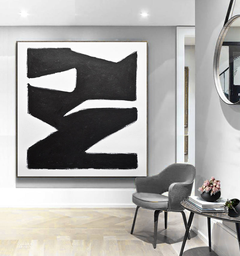 black and white modernist art