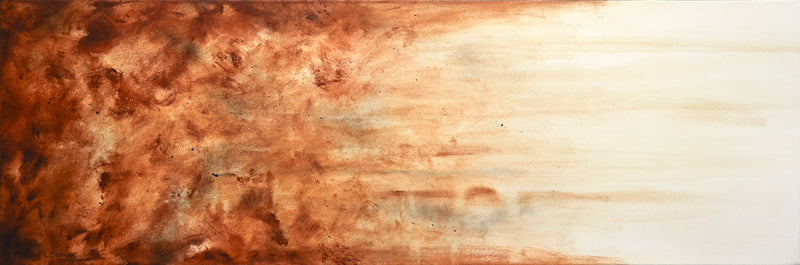 original large brown painting
