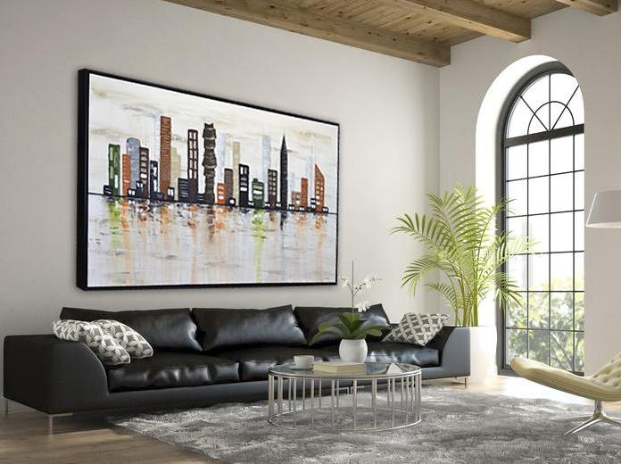 urban cityscape abstract painting skyline