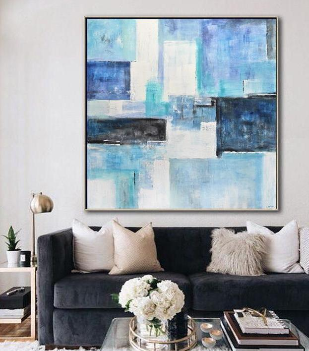 48 x 48 large original abstract art painting