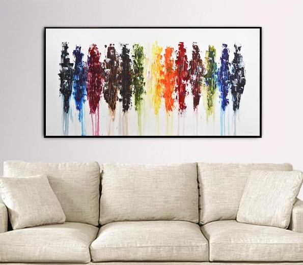 colorful painting abstract art home decor