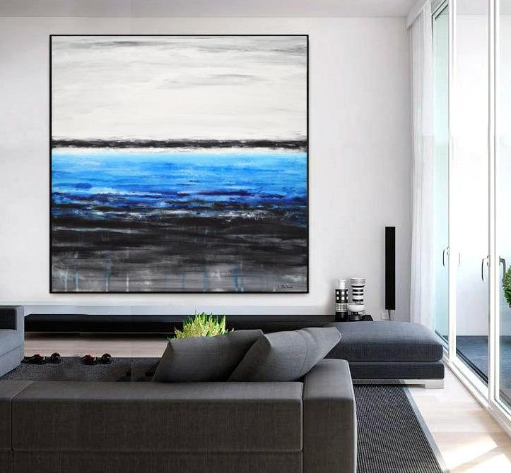 white black blue abstract painting beiboer