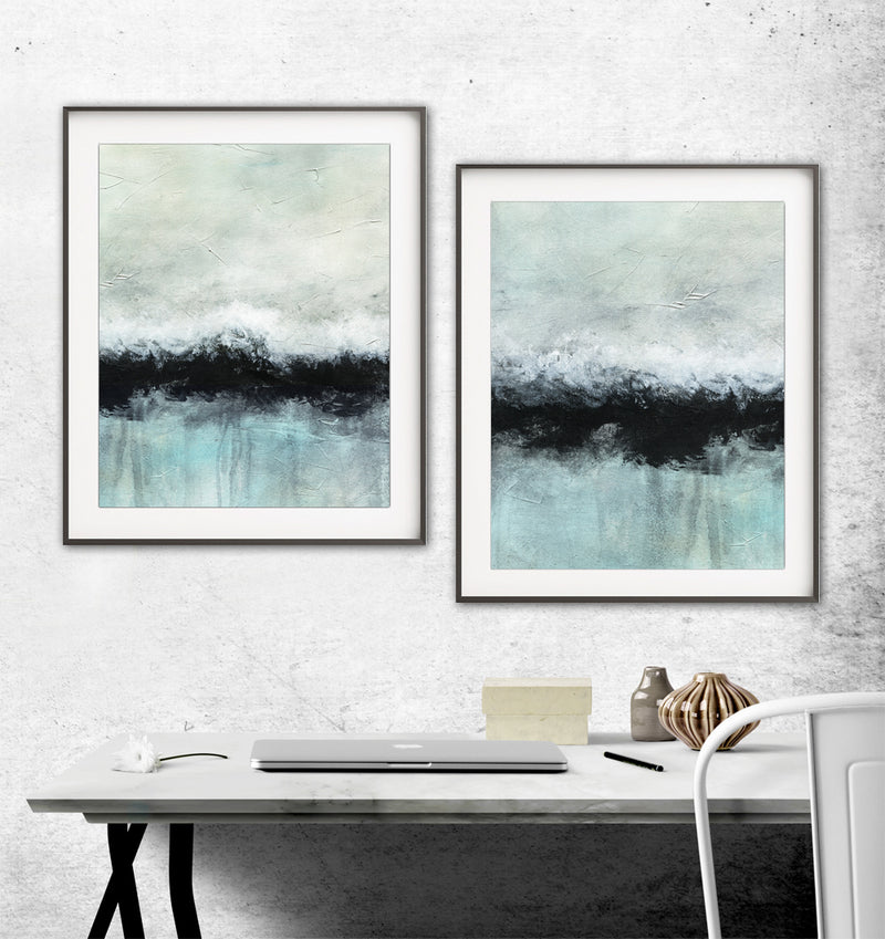 Diptych set of two instant digital download prints poster