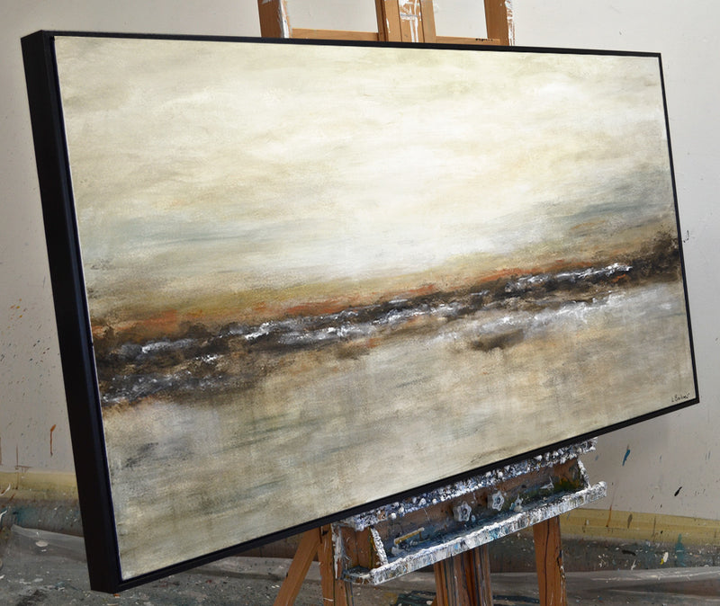 """Not Afraid"" Large abstract panoramic landscape painting"