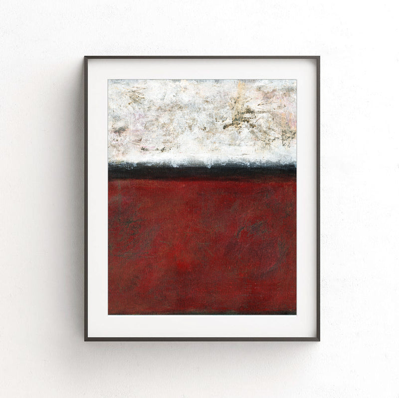 instant download print abstract art poster red
