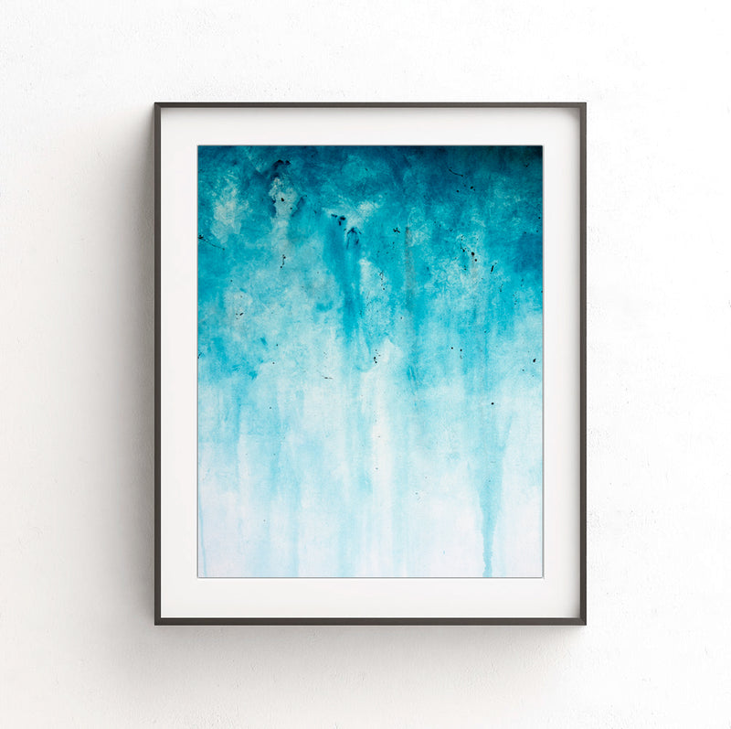 instant download printable blue art