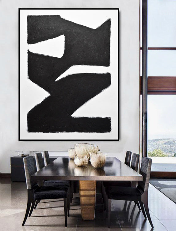 modern art black and white design
