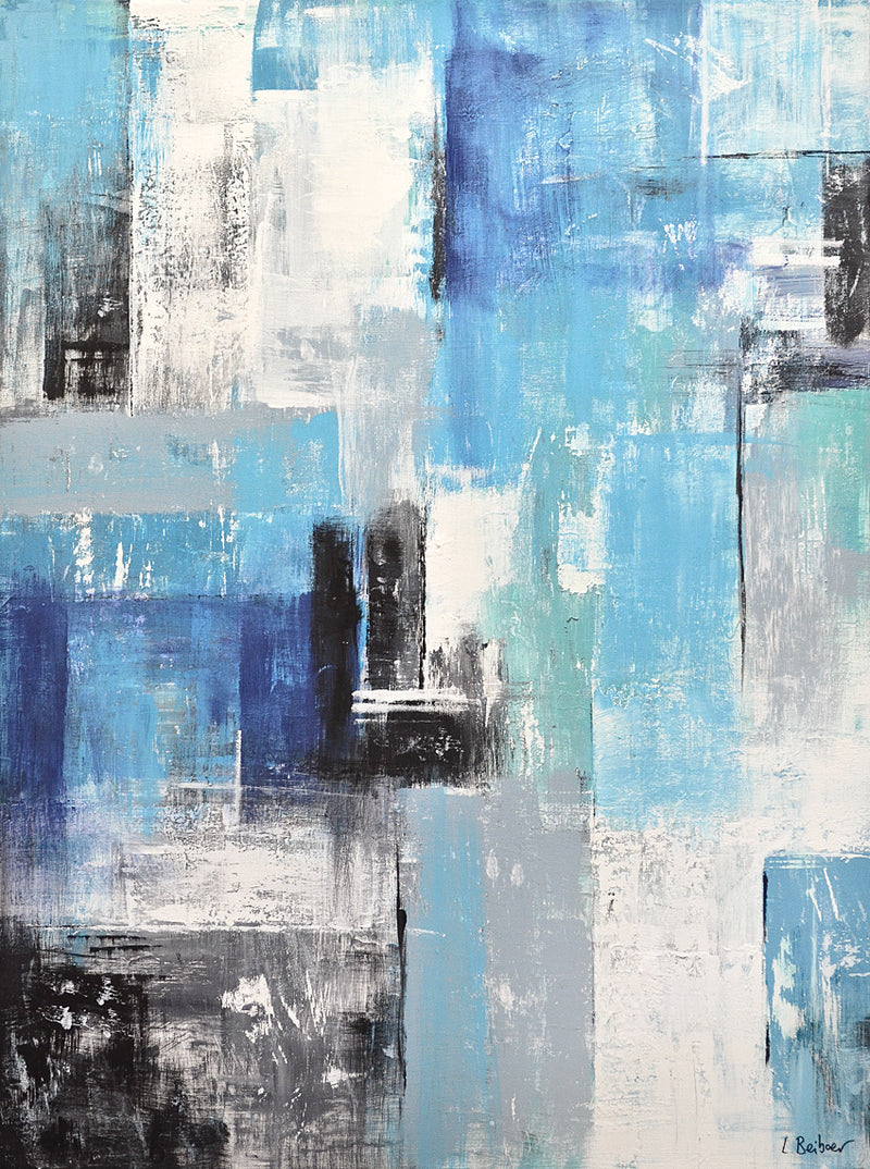large original blue abstract art