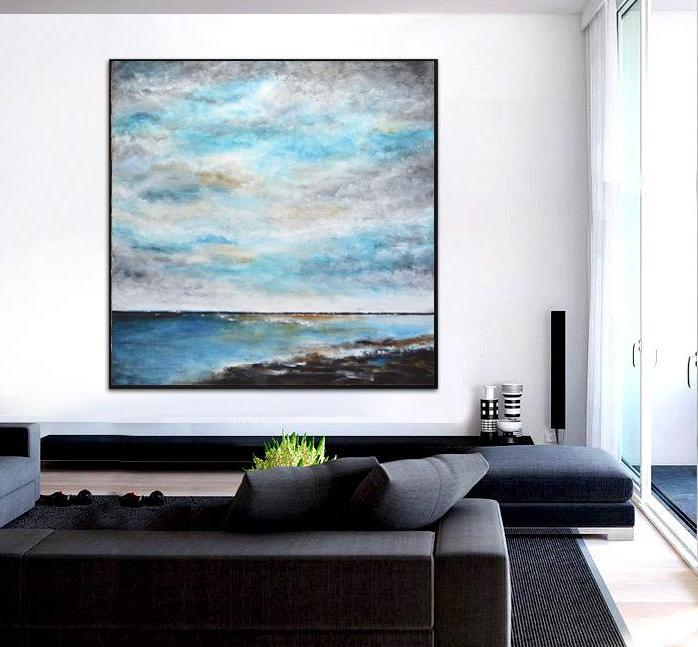 large blue landscape seascape ocean art